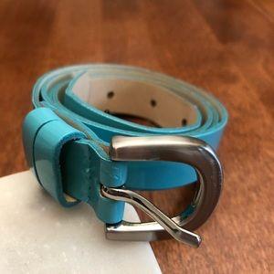 JESSICA | Blue teal vegan leather summer belt